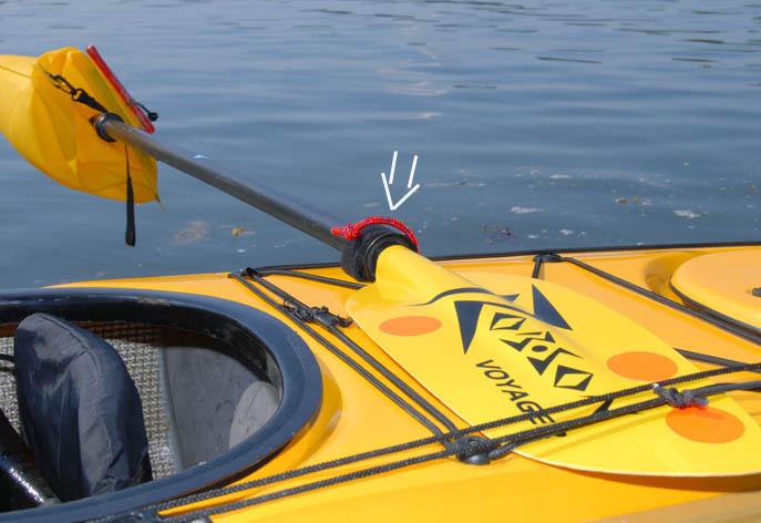Kajaktillbehör paddelfäste